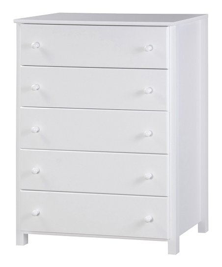 White Five-Drawer Chest