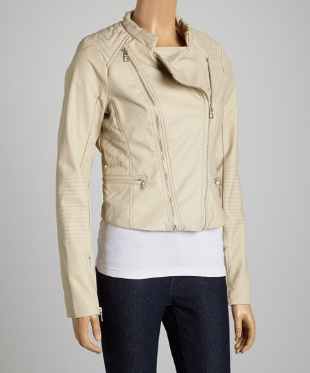 Beige Asymmetrical Jacket