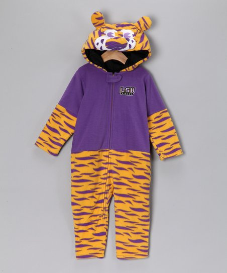 MascotWear Louisiana State Fleece Playsuit - Infant, Toddler & Ki