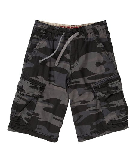 Smokey Camo Cargo Shorts - Boys