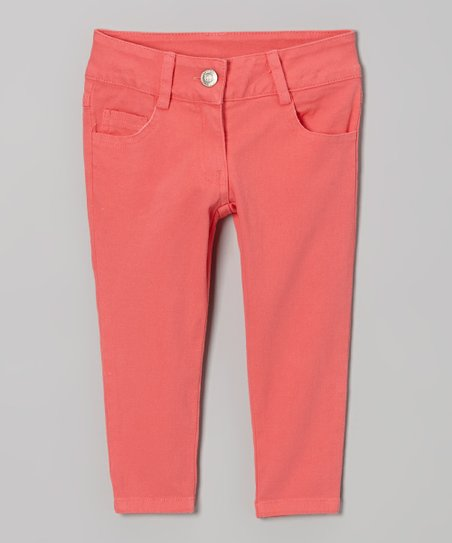 Coral Bloom Time Twill Pants - Toddler & Girls