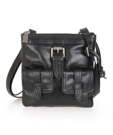 Black Porto Mini Leather Crossbody Bag