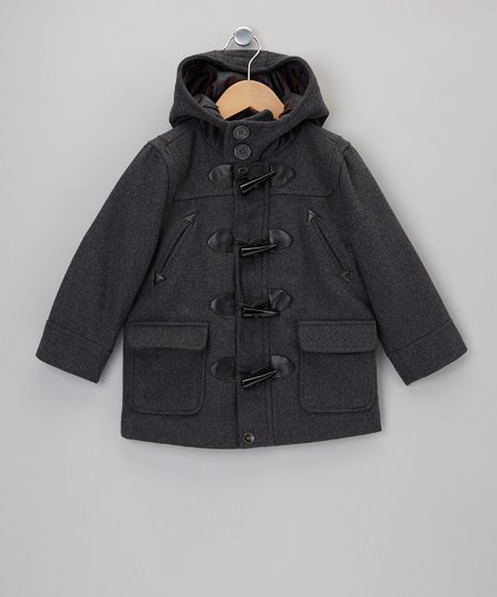 Charcoal Toggle Jacket - Toddler & Boys