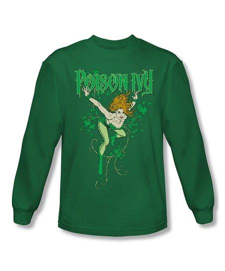Green 'Poison Ivy' Long-Sleeve Tee - Women & Plus