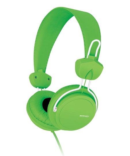 Green Neon Edge On-Ear Headphones