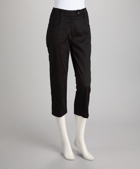 Black Tab Capri Pants