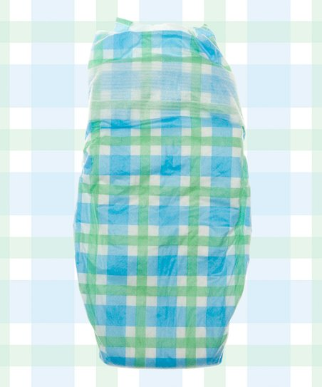 Blue Gingham Nontoxic Disposable Diaper Pack