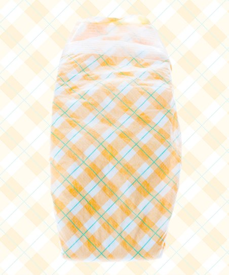Yellow Plaid Nontoxic Disposable Diaper Pack