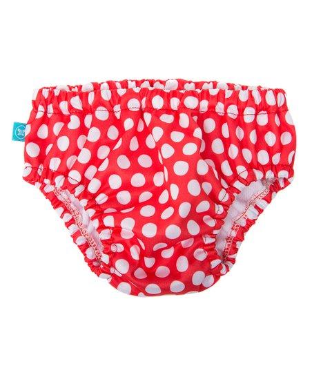 Red Polka Dot Swim Diaper