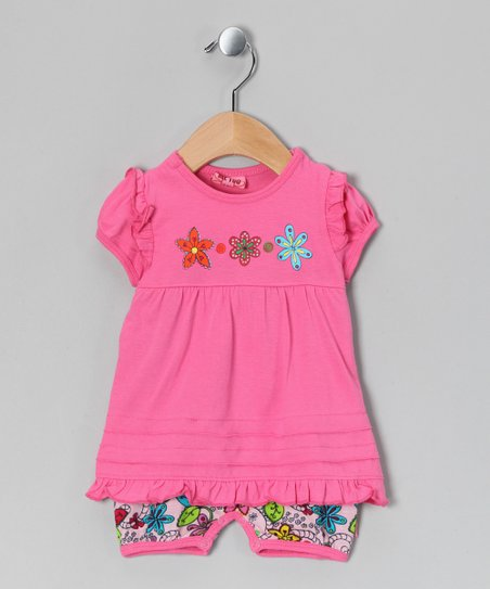 Azalea Pink Sigbert Romper - Infant
