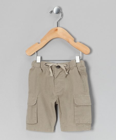 Plaza Taupe Sennik Cargo Shorts - Infant, Toddler & Boys