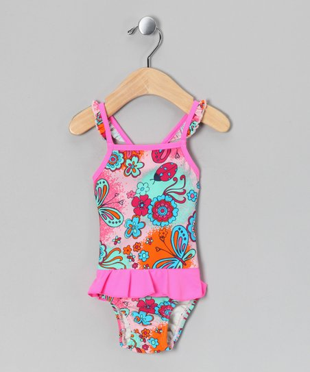 Parfait Pink Kea Skirted One-Piece - Infant, Toddler & Girls