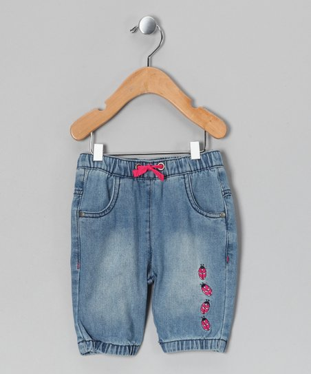 Light Wash Denim Kisser Capri Pants - Infant, Toddler & Girls