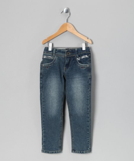 Medium Wash Parisa Jeans - Girls