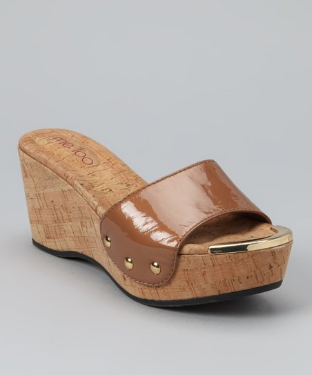 Almond Patent Catrina Wedge
