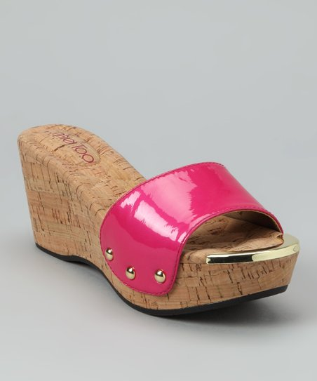 Azalea Pink Patent Catrina Wedge
