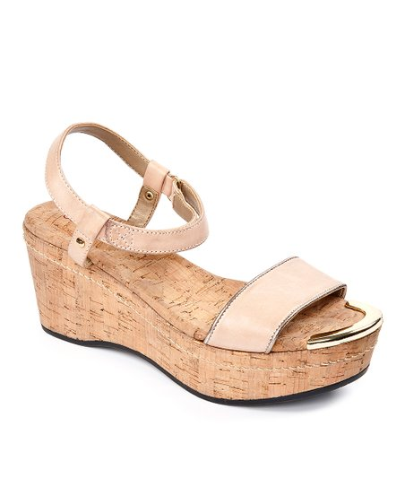 Baby Pink Chanella Wedge Sandal