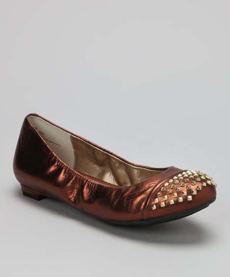 Copper Foil Kid Krave Ballet Flat
