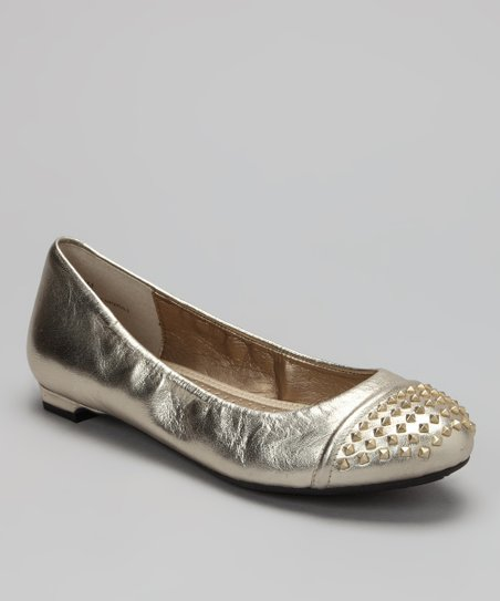 Platinum Metallic Krave Ballet Flat