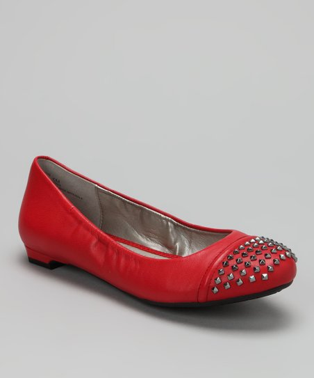 Red Nappa Krave Ballet Flat