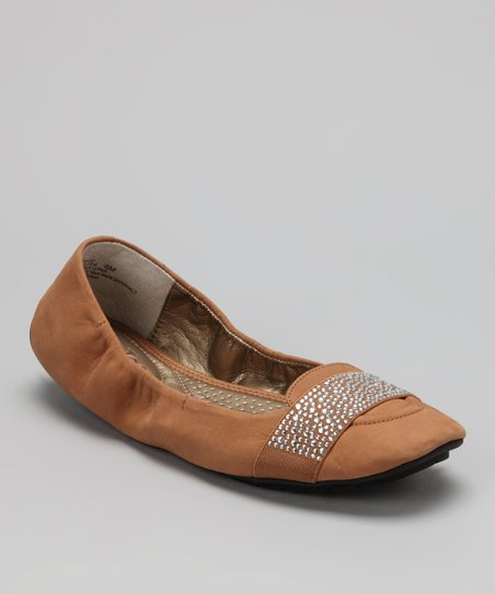 Almond Nubuck Lakelyn Ballet Flat
