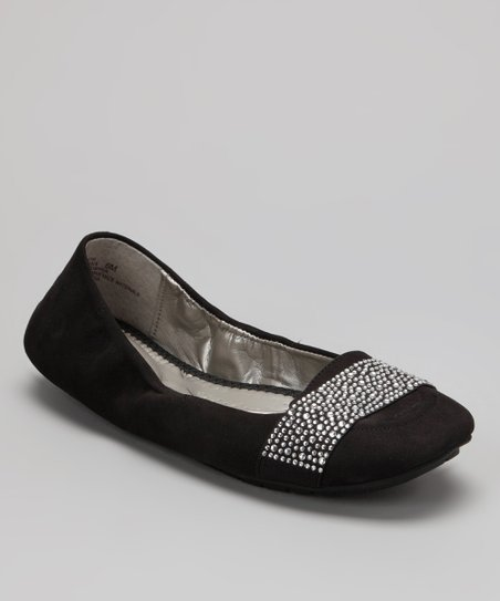 Black Nubuck Lakelyn Ballet Flat