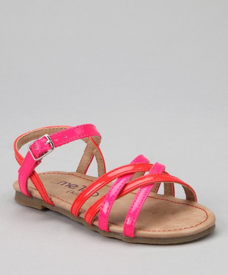 Fuchsia & Orange Tara Sandal