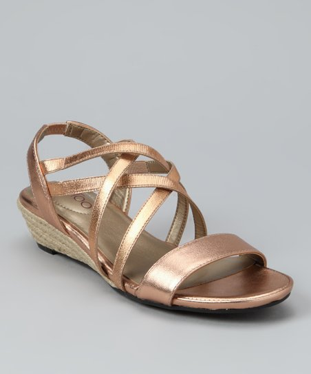 Blush Metallic Sevita Wedge