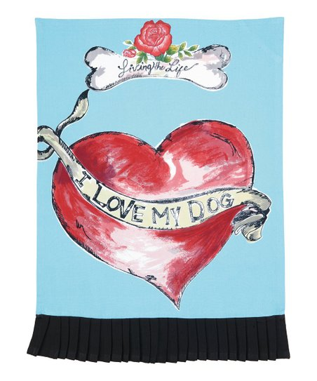 'I Love My Dog' Kitchen Towel - Set of Two