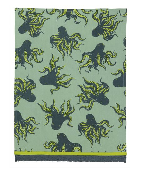 Green Octopus Kitchen Towel - Set of Two