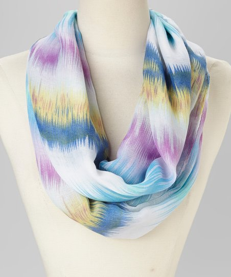 Purple & Blue Watercolor Pattern Infinity Scarf