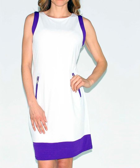 Purple Color Block Dress