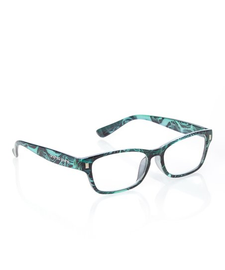 Mint & Black Swirl Rectangle Frame Readers