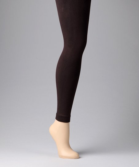 MeMoi Chocolate Fleece-Lined Leggings