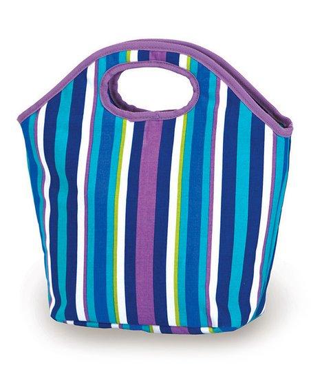 Lavender Stripe Zesty Lunch Bag