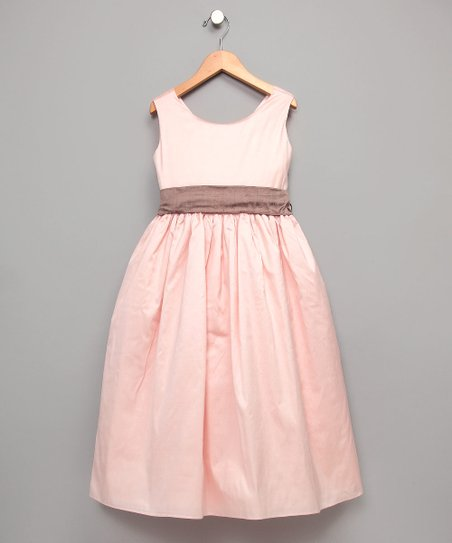 Pink Silk Dress - Girls
