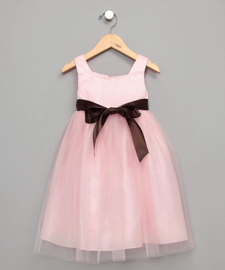 Pink Organza Satin Dress - Infant, Toddler &amp; Girls