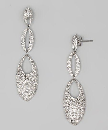 Cubic Zirconia & Sterling Silver Double Drop Earrings