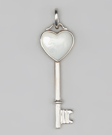 Mother-of-Pearl & Sterling Silver Key Pendant