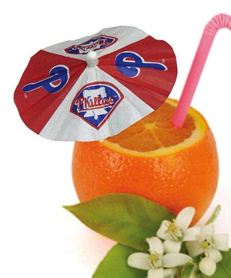 Philadelphia Phillies Paper Drink Umbrella - Set of 24