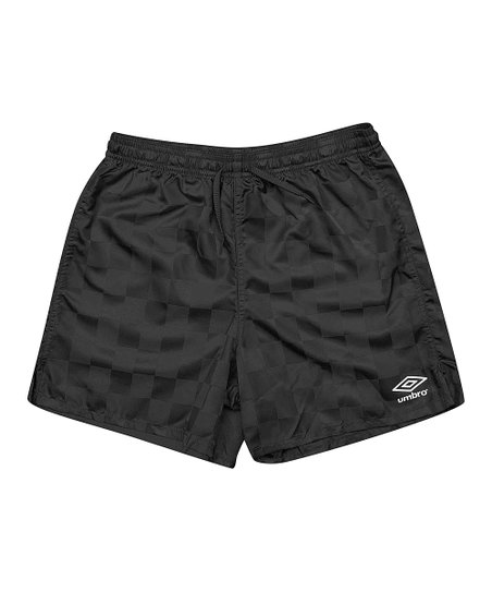 Black Checkerboard Shorts - Kids