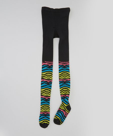 Black & Yellow Zebra Tights