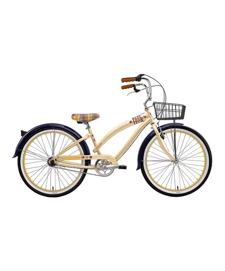 Cream & Navy Blue Paul Frank Art School Women's 3-Speed Bike
