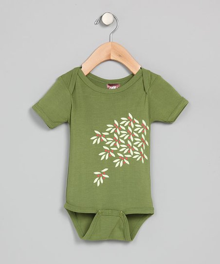 Green Leaves & Berries Organic Bodysuit - Infant