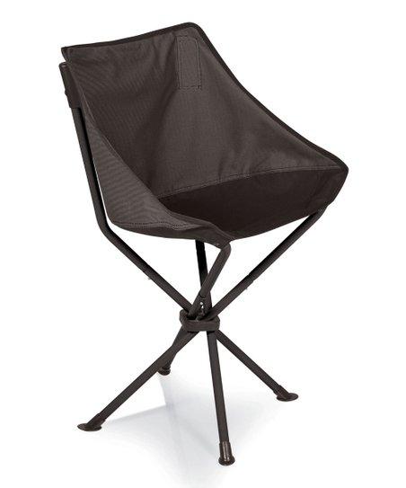 Gray & Black Odyssey folding Chair