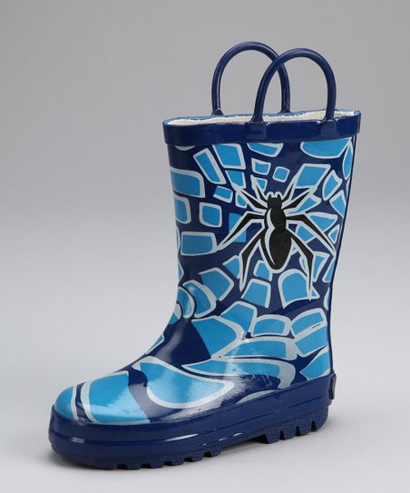 Navy Spider Rain Boot