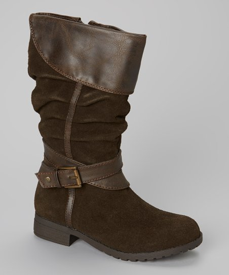 Brown Monica Buckle Boot