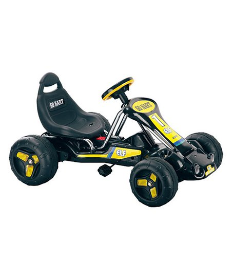 Black Stealth Pedal Go-Kart Ride-On