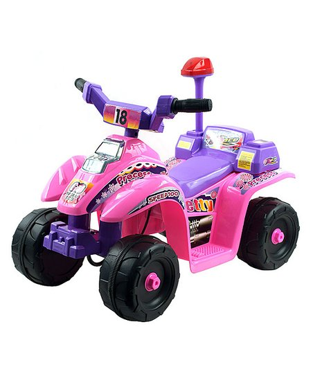 Pink &amp; Purple Precess Electric ATV Ride-On