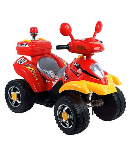 Red & Yellow Electric Four-Wheeler Ride-On